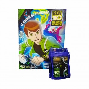 Combo 50 Figus + álbum Ben 10 Alien Force