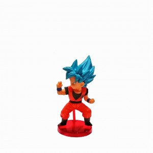 Figura chica Dragon Ball Super Saiyan Blue base roja