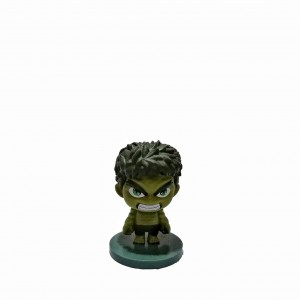 Figura Avengers Cabezón Hulk base verde