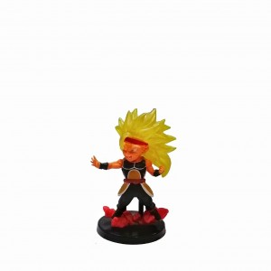 Figura chica Dragon Ball Xeno Bardock SSJ3 base negra con relieve
