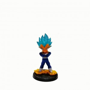 Figura chica Dragon Ball Vegeta Blue base negra con relieve