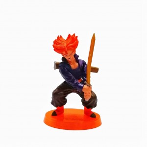 Figura mediana Dragon Ball Super Saiyan Trunks base naranja