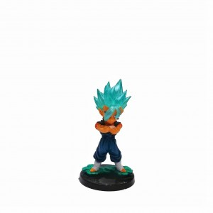 Figura chica Dragon Ball Vegetto base negra con relieve