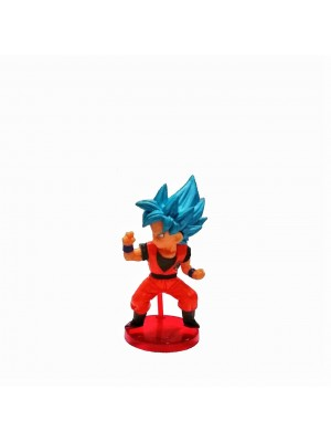 Figura chica Dragon Ball Super Saiyan Blue base roja