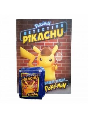 Combo 50 Figus + álbum Pokemon Detective Pikachu