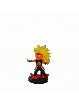 Figura chica Dragon Ball Xeno Bardock SSJ3 base negra con relieve