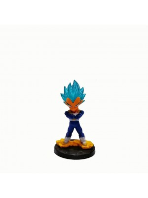 Figura chica Dragon Ball Vegeta Blue base negra con relieve