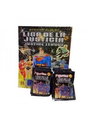 Combo 100 Figus + álbum Liga de la Justicia