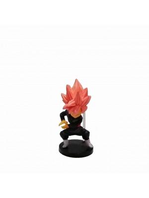 Figura chica Dragon Ball Super Saiyan Rosado base negra