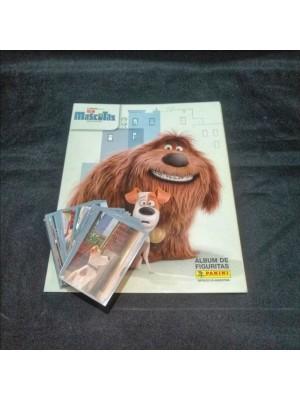 Lote de Figus x 130 unid + álbum La vida secreta de tus Mascotas