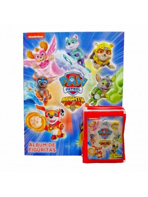 Combo 40 Figus + álbum Paw Patrol Mighty Pups