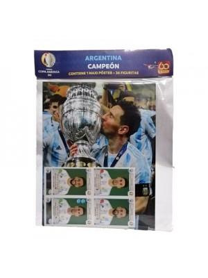 Maxi Póster Argentina Campeón Copa América 2021