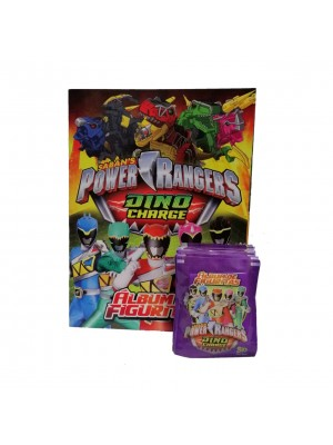 Combo 50 Figus + álbum Power Rangers
