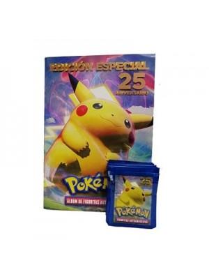 Combo 50 Figus + álbum Pokemon 25º Aniversario