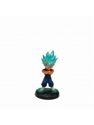 Figura chica Dragon Ball Vegetto base negra con relieve