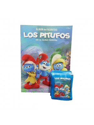 Combo 50 Figus + álbum Los Pitufos